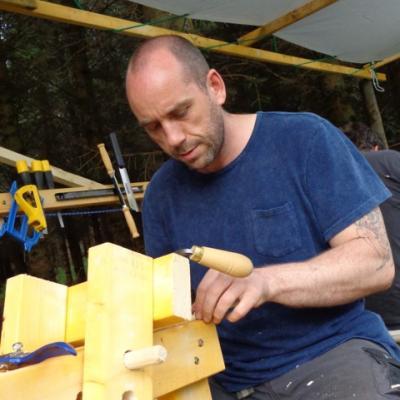 Man making chair